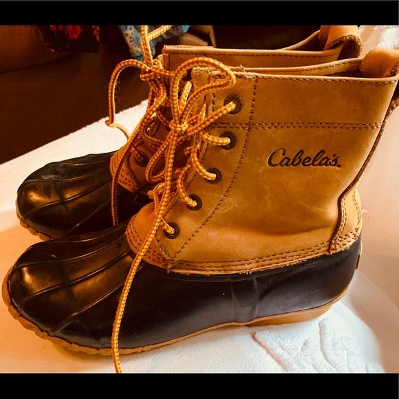 81ca2d54739 Cabela's Duck Boots Waterproof Sz 7